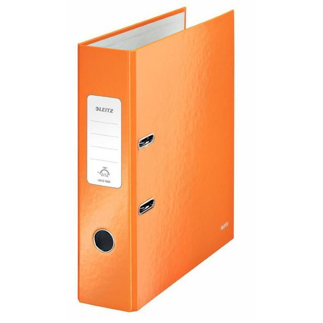 Leitz A4 180 Degree Lever Arch File 80mm Orange
