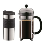 Bodum Chambord 8 Cup Coffee Cafetiere & Vacuum Travel Mug