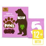 BEAR Pure Fruit Paws Apple & Blackcurrant Multipack