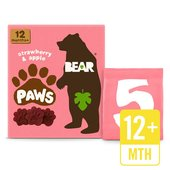 BEAR Pure Fruit Paws Strawberry & Apple Multipack