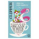 Clipper Organic White Tea Bags with Raspberry