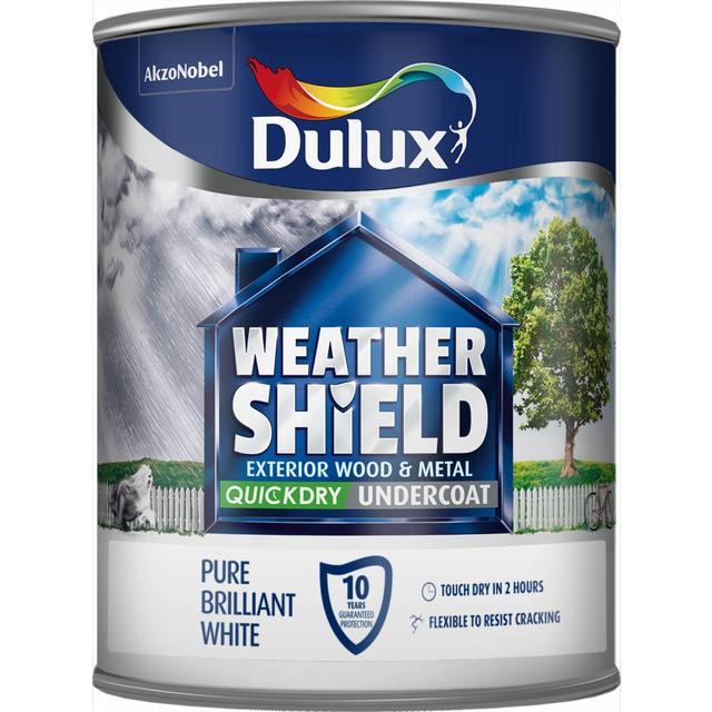 Dulux Weathershield Quick Drying Undercoat Pure Brilliant White 750ml From Ocado