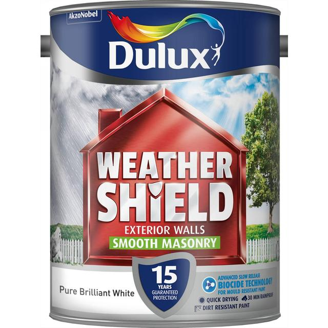 Dulux Weathershield Smooth Masonry Paint Pure Brilliant White