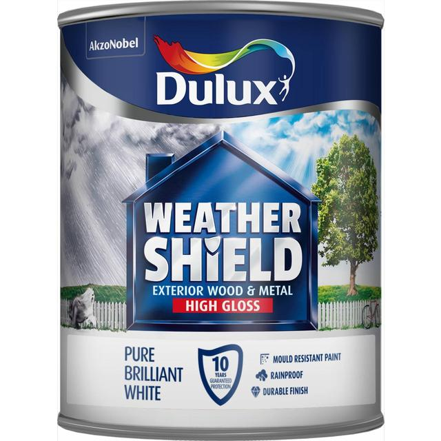 Dulux Weathershield Exterior Gloss Pure Brilliant White 750ml From Ocado