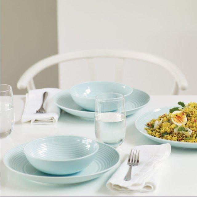 ... Gordon Ramsay Maze Stoneware 12pc Dinnerset Blue & Gordon Ramsay Maze Stoneware 12pc Dinnerset Blue from Ocado