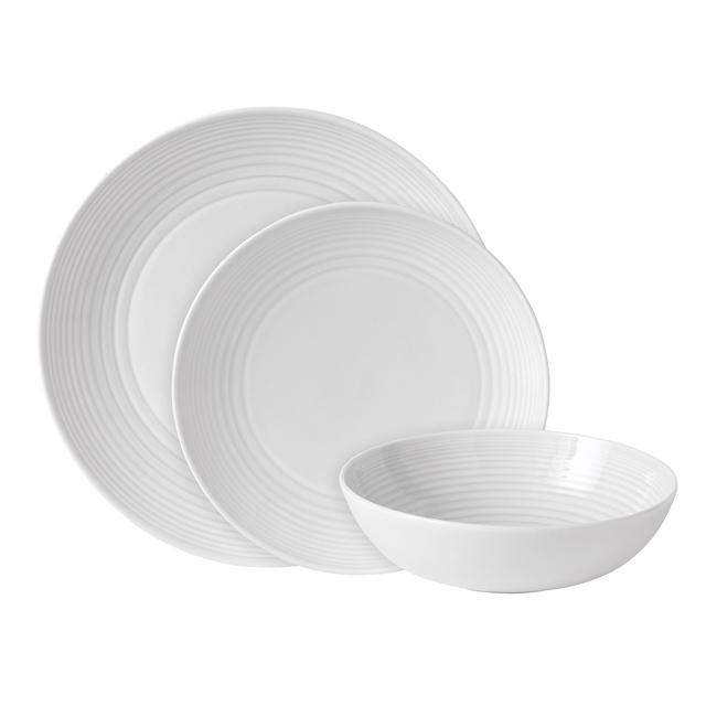 Gordon Ramsay Maze Stoneware 12pc Dinnerset White from Ocado