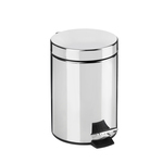 Croydex Chrome Pedal Bin 5L with Soft Close