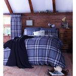 Catherine Lansfield Kelso King Duvet Set, Charcoal