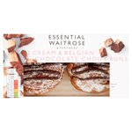 Essential Waitrose Cream & Belgian Chocolate Choux Buns