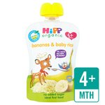HiPP Organic Bananas with Baby Rice Pouch 4+ Mths