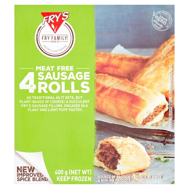Frys Vegetarian Cocktail Sausage Rolls Frozen