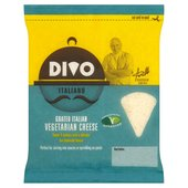 Divo Vegetarian Grated Italian Hard Cheese by Aldo Zilli