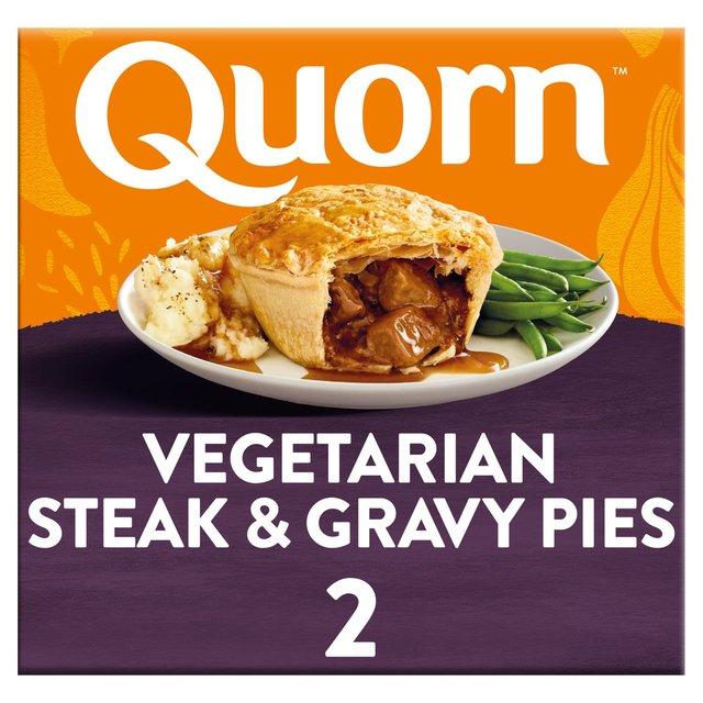 Quorn Steak Style & Gravy Pie Frozen 400g from Ocado