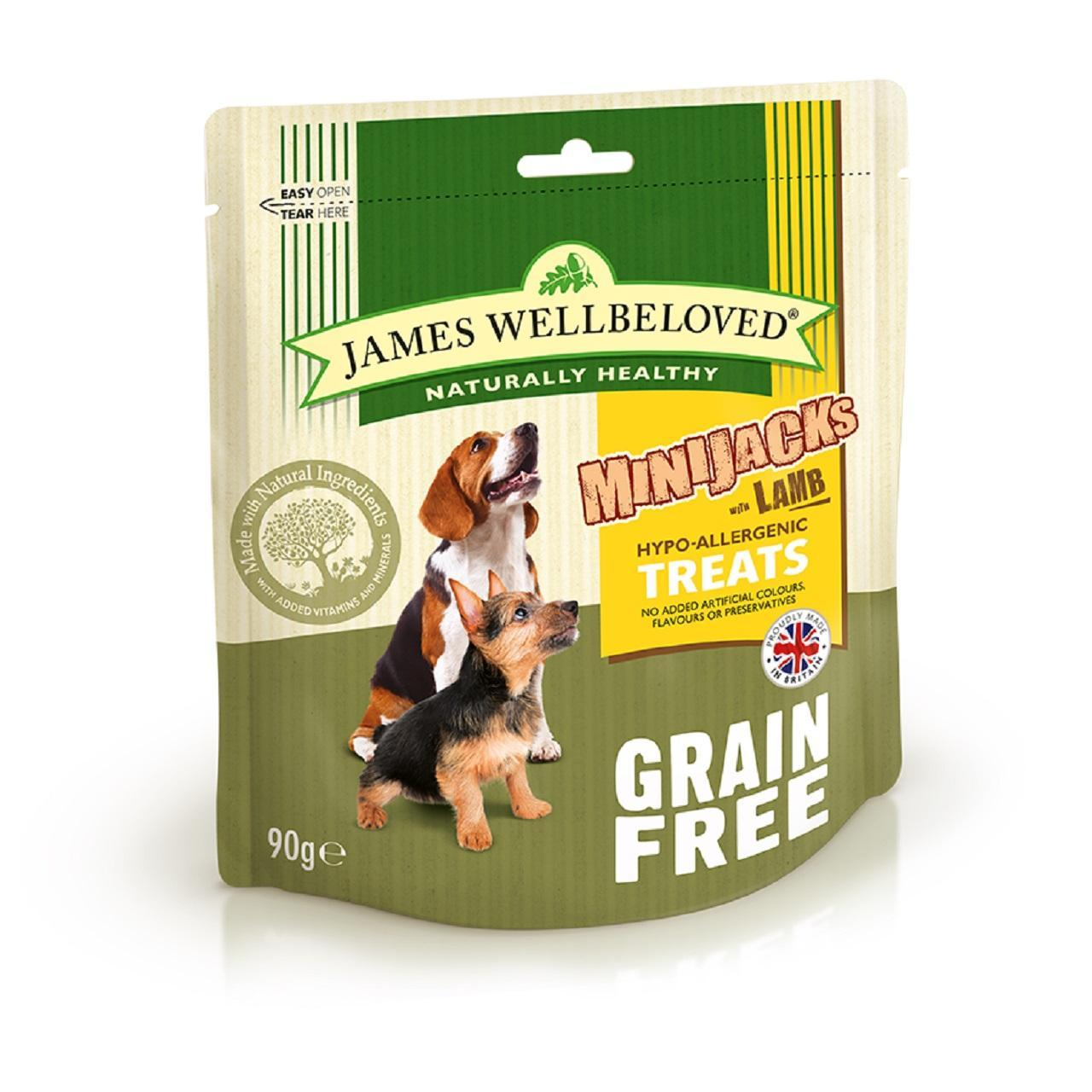 An image of James Wellbeloved Grain Free Lamb Minijacks