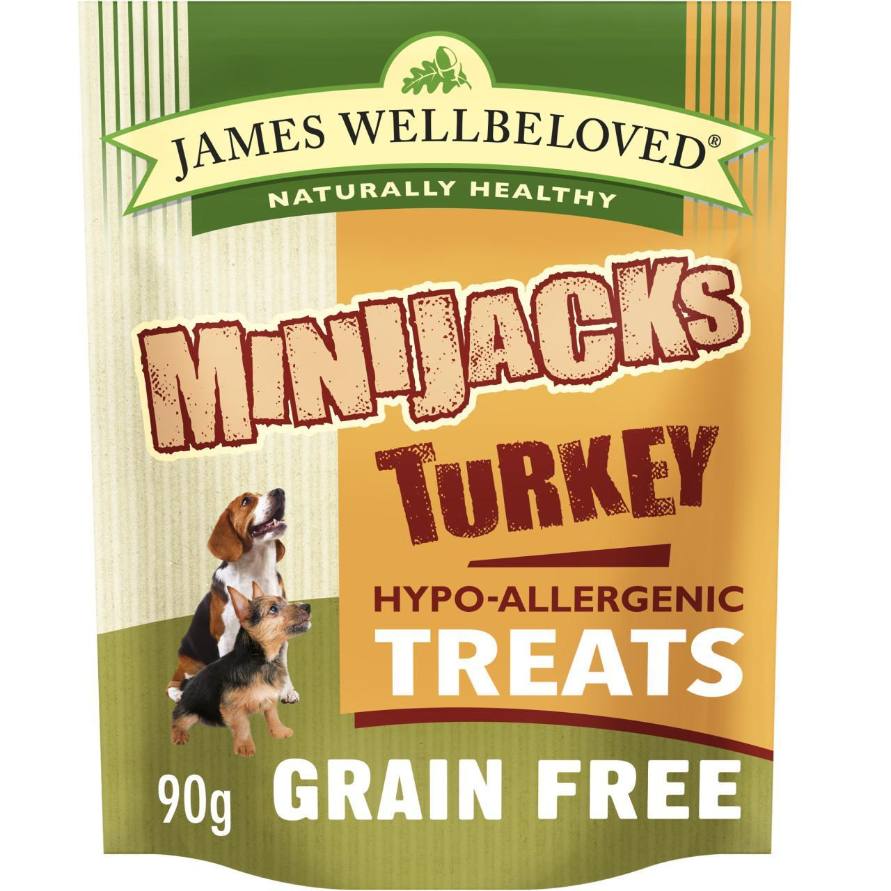 An image of James Wellbeloved Grain Free Turkey Minijacks